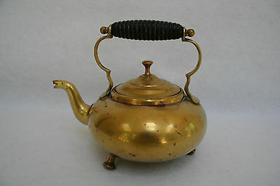 Antique Canada Brass Footed Tea Kettle