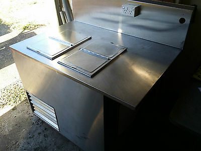 Commercial Restaurant Stainless Steel Bench Ice Cream Freezer