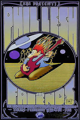 Phil Lesh and Friends _RARE ORIG 2001 Concert Poster  - Signed by Stanley Mouse