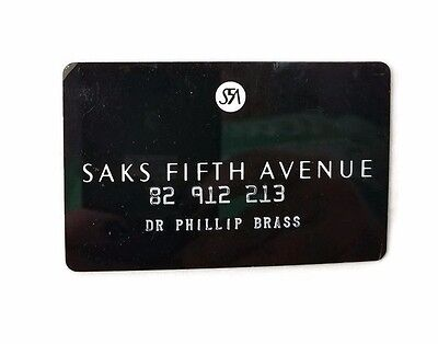 Vintage Saks Fifth Avenue Store Credit Card Charge Card
