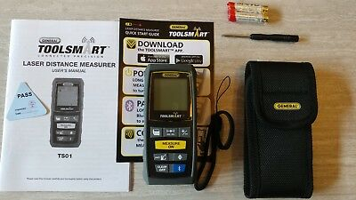 NEW General Tools ToolSmart Laser Distance Measurer TS01 Bluetooth iOS android