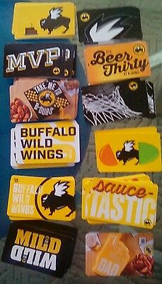 12 Buffalo Wild Wings Restaurant Gift Cards, Mvp, Birthday,mild Collectible Mint