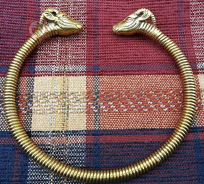 Goat's head Torc necklace jewellery reenactment Celtic Neck Ring