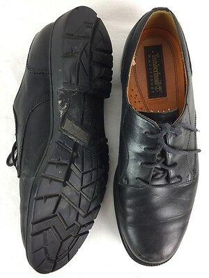 Timberland Men's sz 12M Black Leather Waterproof Lace Up Casual Oxfords