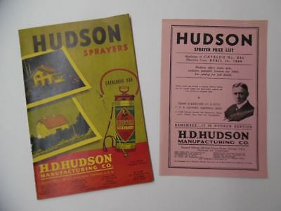 1940 Hudson Mfg Co Sprayer Duster Garden Catalog Moto-Air Vacuum Cleaner Vintage