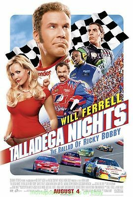TALLADEGA NIGHTS MOVIE POSTER DS 27x40 Original WILL FERRELL 2006 Racing Comedy