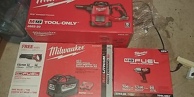 Milwaukee M18 3 tool set with a single battery and dual m12/m18 charging base.