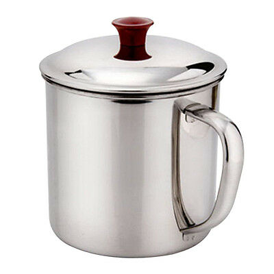 Stainless Steel D Shape Handle Cup Water Mug 400ml Capacity Cup Hot