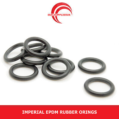 Imperial EPDM Rubber O Rings 3.53mm Cross Section BS201-BS230 - UK SUPPLIER
