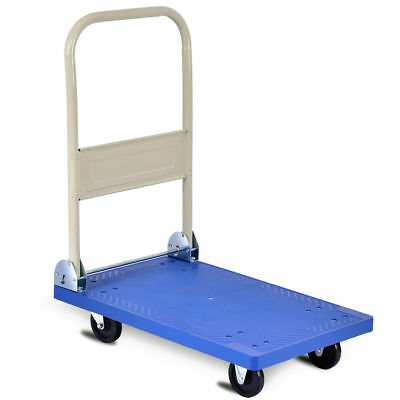220lbs Platform Cart Folding Dolly Hand Truck Push Foldable Moving Warehouse New