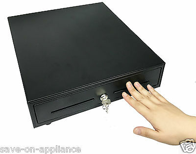 "16"" x 14""  Manual POS Cash Drawer Push Open with Insert Tray Restaurant Kiosk"