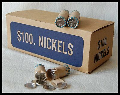 2009-D Uncirculated JEFFERSON NICKEL ROLL - From 50 Roll Box - Not Satin Finish