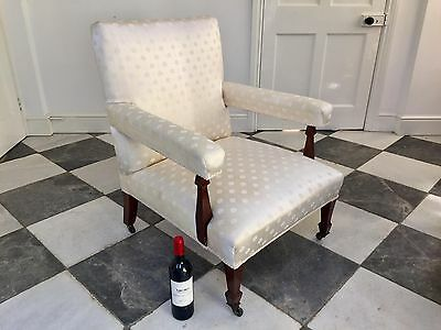 Comfortable Recently Reupholstered Antique Edwardian Armchair