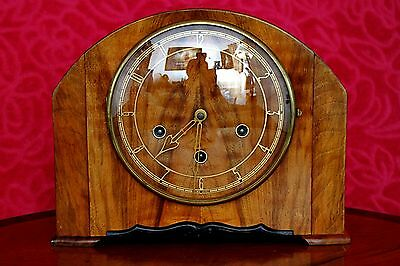 Vintage Art Deco 'Smiths' Mantel Clock with Westminster Chimes