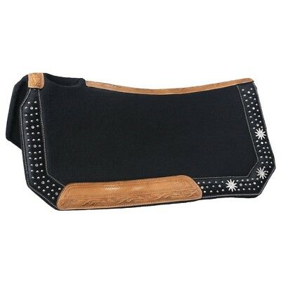 Tough-1 High Noon Collection Saddle Pad Brown Hair Overlay