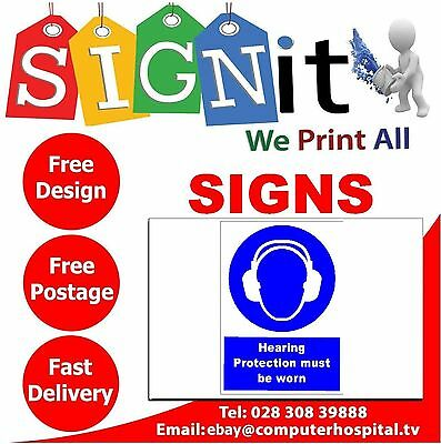 Sticker Correx Plastic Or Aluminium Sign-F009 Hearing Protection Must Be..Sign