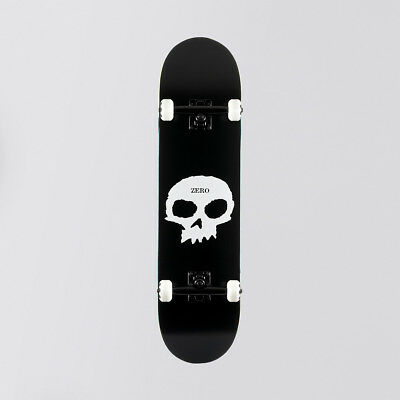 Zero Single Skull Complete Black/White - 8""