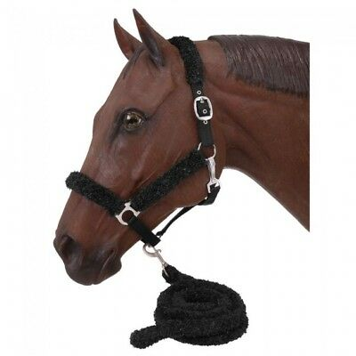 Tough-1 Fuzzy Halter And Lead Set Black