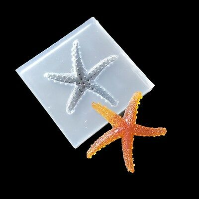 Silicone DIY Starfish Mould Molds Resin Jewelry Pendant Tool Making Tools Craft
