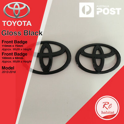 SET OF GRILLE & HATCH GLOSS BLACK BADGES FOR TOYOTA GT 86 Before 2016