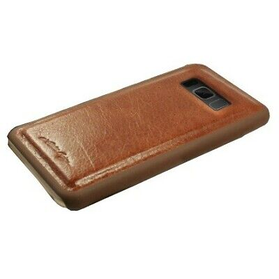 Alston Craig Genuine Vintage Leather Magnetic Shell for Samsung Galaxy S8 -Brown