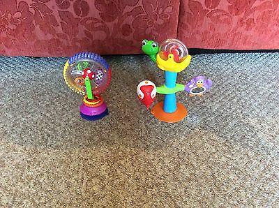 Great Fisher Price Child Highchair Suction Sucker Rattle Toy Baby Toddler Set