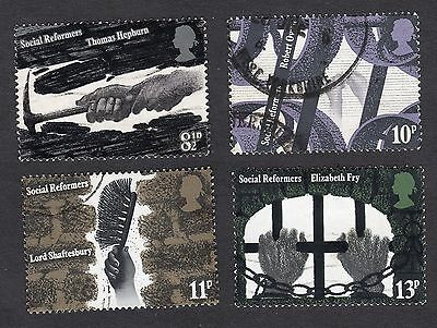 1976 Social Reformers SG 1001 to 1004 set Fine Used R6803