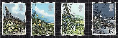 1979 Spring Wild Flowers SG 1079 to 1082 set Very Good Used R6846