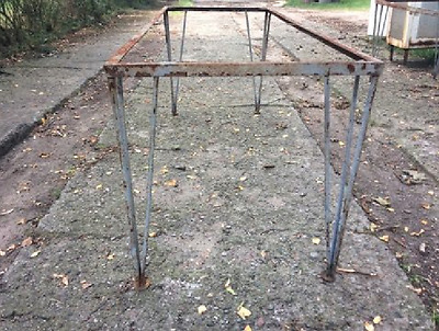 Vintage Iron Industrial Metal Table Frame  Hairpin Style Legs ( 2 available)