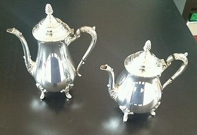 VINTAGE SILVER PLATED AND COFFEE TEA SET Teapot and Coffee Pot