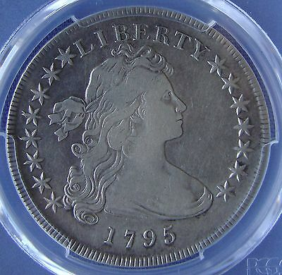 *BEAUTIFUL 1795 OFF CENTER DRAPED BUST SILVER DOLLAR - VF-30 by PCGS*