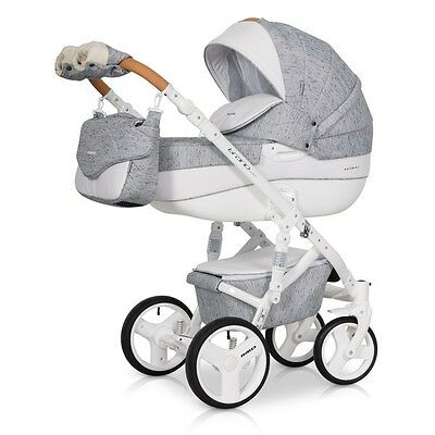 RIKO BRANO LUXE PRAM 3in1 CARRYCOT + PUSH CHAIR + CAR SEAT