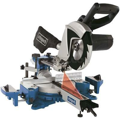 "230V 8"" Sliding Mitre Saw Wood Alluminium Steel 1700W Ø216Mm Scheppach Hm80Mp"