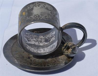 2917 Silver Plate Napkin Ring with Tulip – 1890s