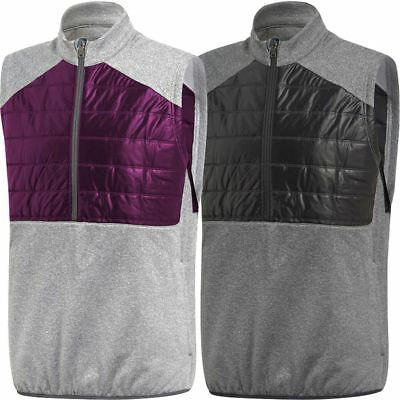 Adidas 2017 Mens 3 Stripes Climaheat Quilted 1/4 Zip Sleeveless Golf Gilet
