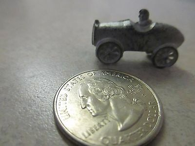 Metal Cracker Jack 1920's prize toy charm race car with driver