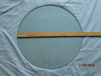 "20""x 3/8"" ROUND GLASS TABLE TOP BEVELED EDGE"