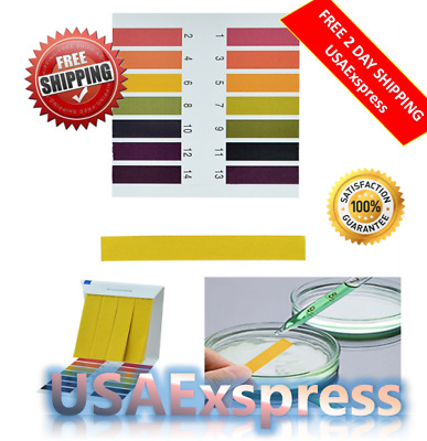 Litmus Paper Ph Test Strips Water Tester Indicator Saliva 80 PCS Universal Water