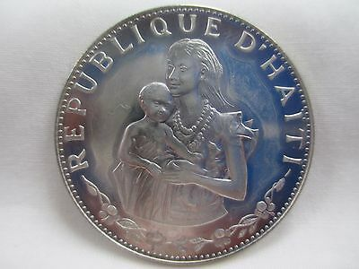 Haiti 1973 Proof Silver 50 Gourdes- Mother With Child- No Reserve