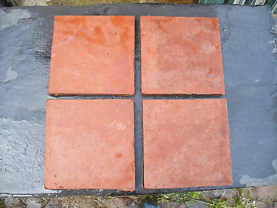 """Reclaimed 6"""" red quarry tiles. 1/2"""" thick"""