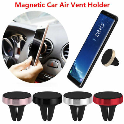 Magnetic Magnet Disc In Car Mobile Phone Holder Air Vent Mount Kit Stand Cradle