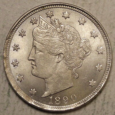 1890 Liberty Nickel, Original Choice Uncirculated Coin  0602-09