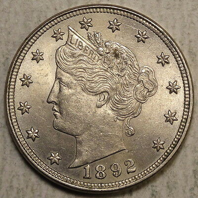 1892 Liberty Nickel, Original Uncirculated Coin  0602-10