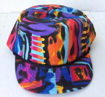 VTG 80's Trucker Snap Back Hat Cap GRAFFITI Hip-Hop DJ Jazzy Jeff Fresh Prince