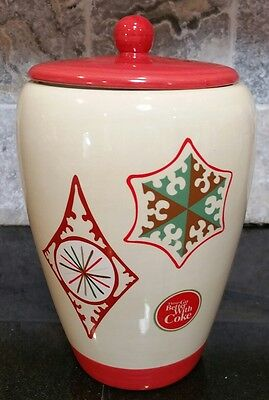 Coca-Cola COKE Canister Cookie Jar Classic Collectible Ceramic Winter