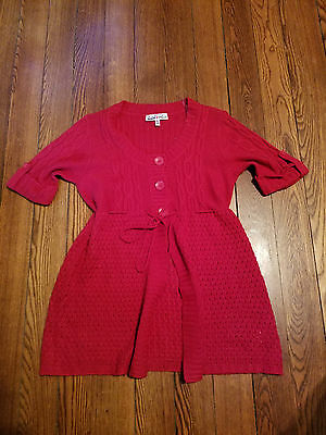 Women's Red Maternity Sweater By Derek Maternity EUC Size Large