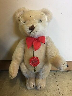 """HERMANN LIGHT TAN TEDDY BEAR  TAG MADE IN WEST GERMANY jointed 13"""""""