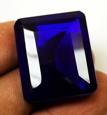 74.30 Ct Natural Certified Oval Cut Cambodia Neon Zircon Blue Color Gemstone