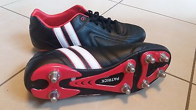 PATRICK * Mens Rugby Boots * Size 13 UK * Changeable Metal Studs *