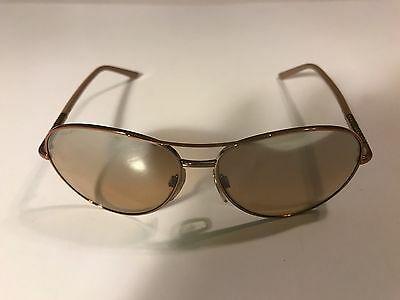 Burberry (B 3053) Rose Gold Metal Frame Aviator Style Sunglasses, EUC